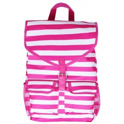 "NTP1-23-P best backpack 18"" Pink white Trendy Stripe Backpack"