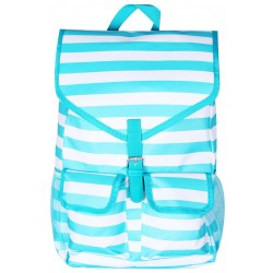 "NTP1-23-TO best backpack 18"" Turquoise white Trendy Stripe Backpack"