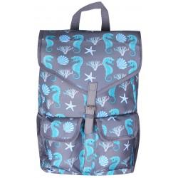 NTP1-32-GREY best backpack Grey Trendy Seahorse Backpack