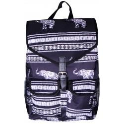 """NTP1-ELE-BW best backpack 18"""" Black white Trendy Elephant Backpack"""