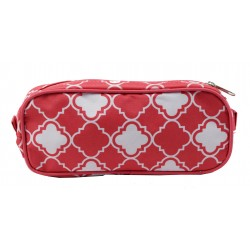 P1-15-P Pencil Case Pink Small Quatrofoil Pattern