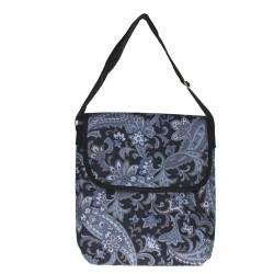 "Paisley Pattern 11"" Laptop Carry Bag-Blue"