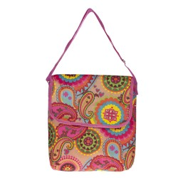 "Paisley Pattern 11"" Laptop Carry Bag-Pink"