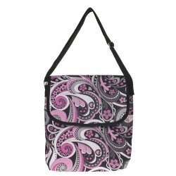 "Paisley Pattern 11"" Laptop Carry Bag-Pink / Grey / Black"