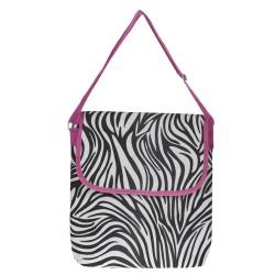 PC-2006-P Zebra Print Laptop Carry Bag-Zebra / Pink