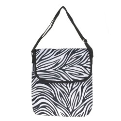 Zebra Print Laptop Carry Bag-Zebra