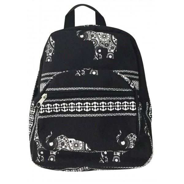 pretty nice 911ba bfbd8 Black White Elephant Print Mini Backpack