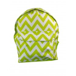 B8-601-LG Chevron Pattern Backpack-Lime Green