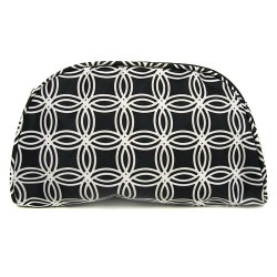 C10-114 Black White Circle Travel and Cosmetic Bag