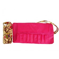 HY010-501-P Small Around Rolling Bag New Owl Pink