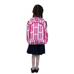 NBN-22-P Big Pink White Arrow Pattern Backpack