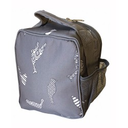 NCC17-26-GREY Superior Grey Bird Pattern Insulated Lunch Tote Bag