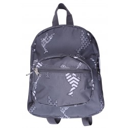 NB5-26-Grey Grey Background white Bird Print Mini Backpack
