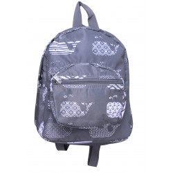 NB5-27-Grey Grey Background white Whale Print Mini Backpack