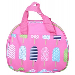 NC20-25-P Around Pink Background Multi Popsicle Pattern Lunch Bag