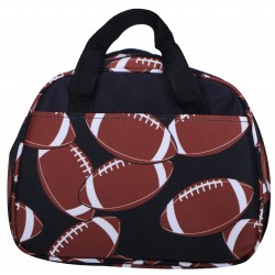 NC20-31 Around Football  Background  Pattern Lunch Bag