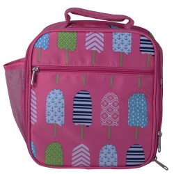 NCC17-25-P Superior Pink Popsicle Pattern Insulated Lunch Tote Bag