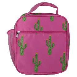 NCC17-32-P Superior Pink Seahorse Pattern Insulated Lunch Tote Bag