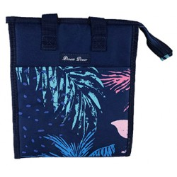 NCC18-52 Blue Tree Leaf  Pattern Insulated Lunch Tote Bag