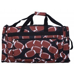 "ND22-31 Brown background Football 21"" Duffel Bag"