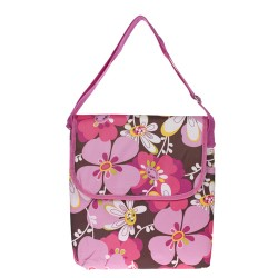 "Pink Flowers 11"" Laptop Carry Bag-Pink"